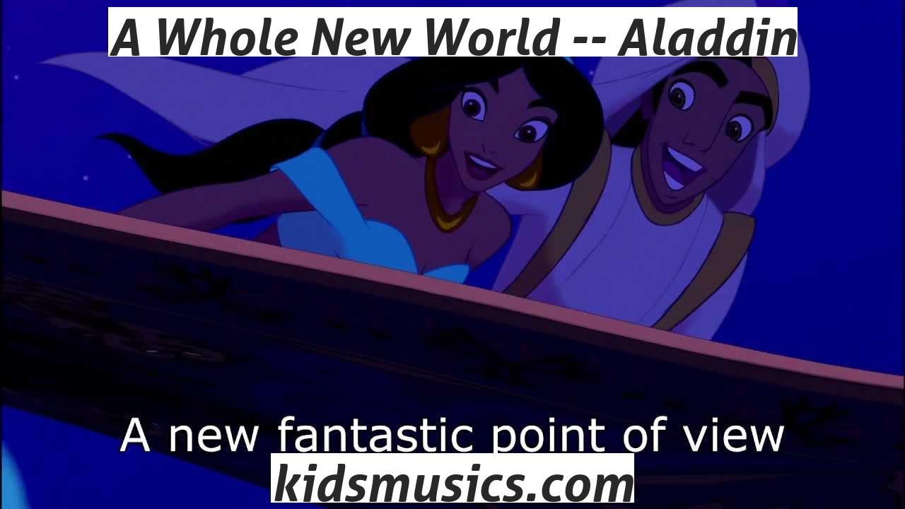 歌詞 a whole new world