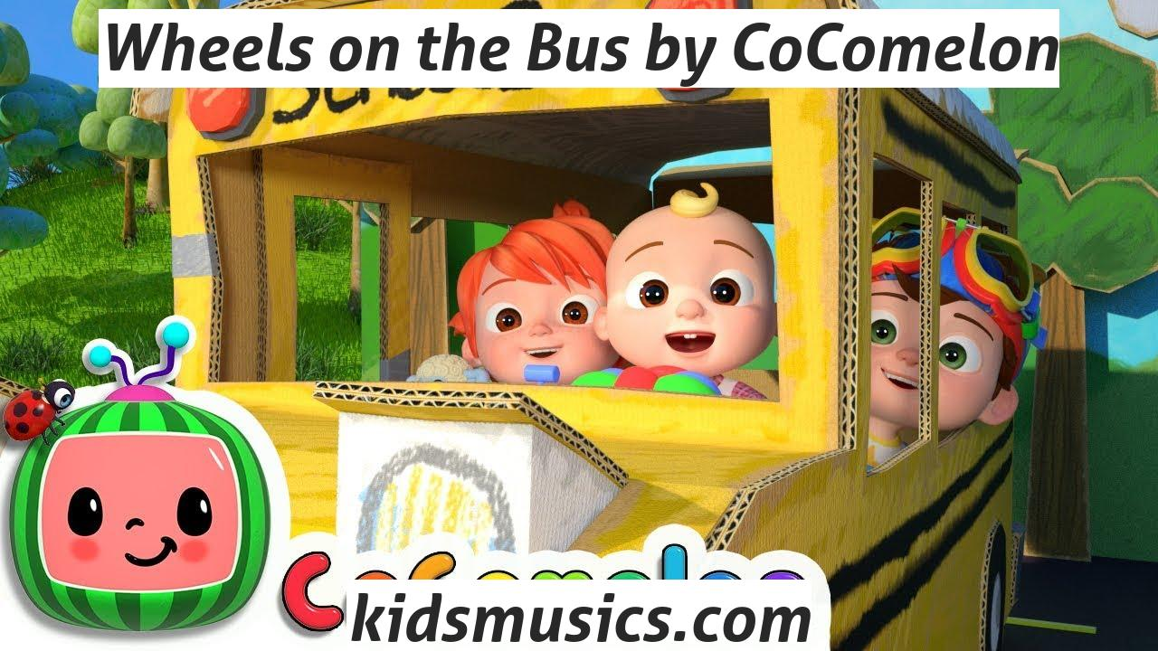 Kidsmusics Wheels On The Bus By Cocomelon Free Download Mp4 Video 720p Mp3 Pdf Lyrics Kids Music